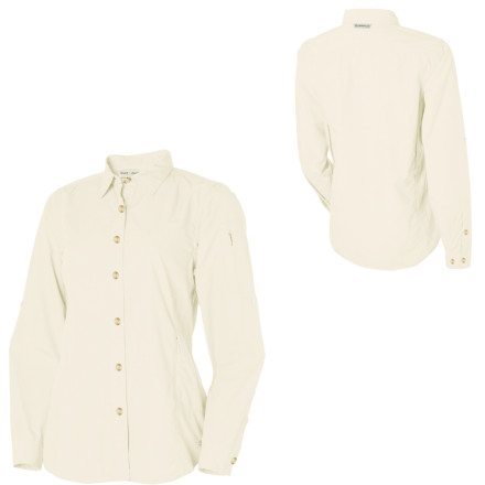 When the bugs are biting, button up the Bugsaway Baja Shirt from ExOfficio. This long-sleeve shirt protects you from insects so you don't have to spray yourself down with icky, stinky bug repellent every hour. - $98.95