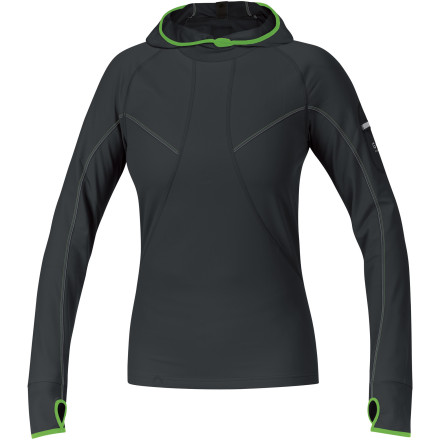 Fitness It's such a shame that it's now dark in the mornings; it's going to be harder for you to show off the sleek style of the Gore Running Wear Women's Air Hooded Shirt. But while its looks may go unappreciated, you are definitely enjoying this stretchy top's protection and comfort as you reel off the miles. It's breathable enough, too, that you don't need to strip down as you warm up and the sky begins to lighten. Hey, it looks like you'll be able to show off for your fellow runners, after all. - $65.97