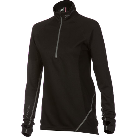 Whether you plan on swinging ice tools or carving turns, the Women's Houdini Alpha Zip Top is the baselayer to slip on before starting your day. The EcoCircle recycled polyester fabrics effectively wick moisture away from your body to keep you warm and dry while providing cotton-like softness next to the skin. Extended sleeves, thumbholes, and an antimicrobial treatment boost this from ho-hum top to go-to baselayer. - $68.72