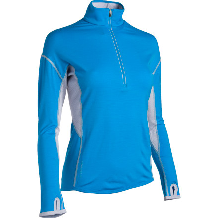 Youre an active woman who needs to have the proper active wear for your lifestyle\227toss on the Icebreaker Womens GT200 Chase \274-Zip Long-Sleeve Top. You will be more than impressed with the lightweight, quick-drying, odor-resistant properties of the Chase. Not to mention the merino wool fibers are so fine that they wont itch and the fabric feels soft as silk against your skin. - $54.98