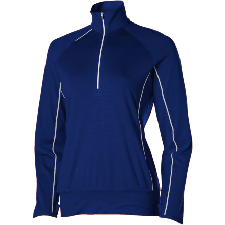 Fitness The cool weather might have everyone else sitting in coffee shops or trapped in gyms like hamsters on wheels. The Icebreaker Women's GT Run Rush Zip Long-Sleeve Shirt gives you the freedom to head outside and get your groove on even when the thermometer is telling you to go back inside. - $44.98