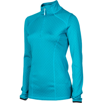 Fitness Hurry up, it's snowing! Grab your Lole WomeneAs Shining Long-Sleeve Top, strap on your skis, and head out before the trails get overrun by the crack-of-noon club. This half-zip top stretches in all four directions, so you can bend, reach, and run for the hills before anyone gets there; its brushed interior is warm and wicks like crazy, so you can keep on running and skiing in comfort. - $43.97