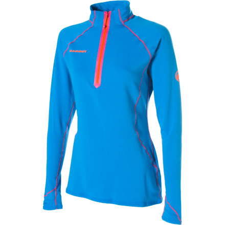 Sometimes you need more than your skin and a trusty shell to get you through a tough mixed route. The Mammut Women's Jungfrau Long-Sleeve Shirt steps in to fill the gap between your skin and your shell. Made with Polartec Power Stretch Pro fabric, the Jungfrau traps body heat without restricting breathability or moisture-wicking capability. - $124.95