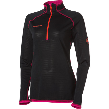 Climbing The Mammut Women's Schneefeld Light Zip Long-Sleeve Pullover gives you next-to-skin comfort and hardcore performance. Wear this pullover on its own for early-season snowshoeing and layer it under a waterproof shell when you're skiing in the backcountry or alpine climbing. - $144.95
