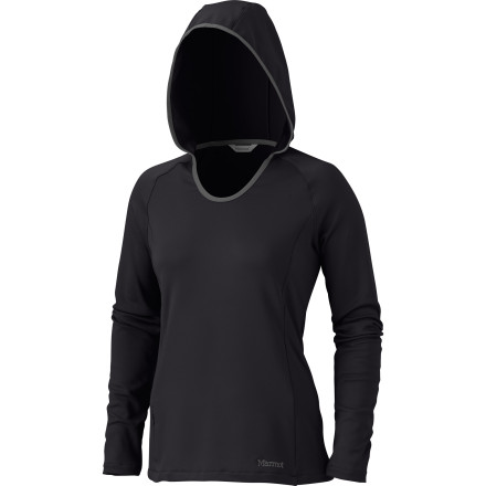 If you love a soft, cozy hoodie that offers full coverage and moisture control when you head into the great outdoors, slip into the Marmot Women's Essential Pullover Top. - $43.97