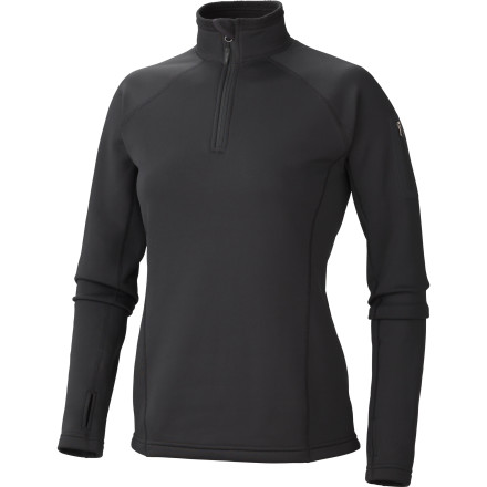 Ski Sometimes cold weather zaps your stoke and puts a damper on your favorite activities. It's time to take the  power back with the Marmot Power Stretch Half-Zip Fleece Shirt. This Polartec Power Stretch top is an excellent layering choice for any cold-weather endeavor. Integrated thumbholes keep the sleeves from riding up when you're riding down, and the elastic drawcord hem helps block drafts. Get your skis waxed and your ice tools sharpened. You're taking the power back. - $60.47