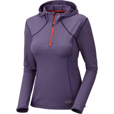 There's a huge, delicious smoothy waiting for you to finish your morning training session. But for now, all you have to focus on is putting one foot in front of the other while your Mountain Hardwear Women's Beta Power Hooded Long-Sleeve Top keeps your core comfortable. - $64.97