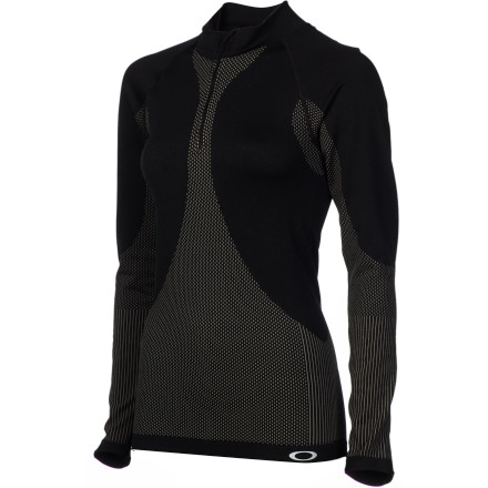 Train in absolute comfort and style with the flattering Oakley Women's Continuity 1/2 Zip Long-Sleeve Shirt. - $37.80