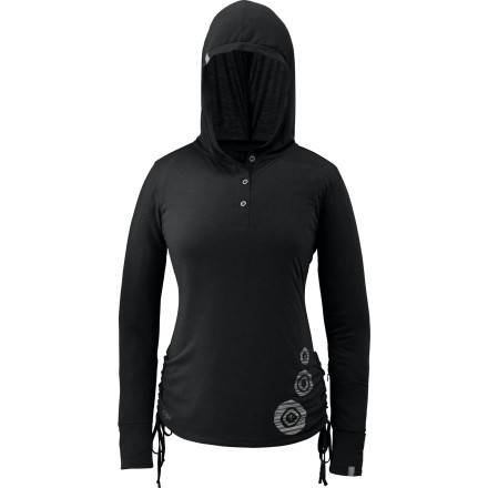 Don't let the soft, cottony feel fool you, the Outdoor Research Women's Essence Hooded Henley is made with an ultra-breathable polyester and merino wool blend the pulls moisture away from your skin to keep you dry and comfortable. Outdoor Research also treated the Essence with FreshGuard to control odor during tough, aerobic activity. - $32.97