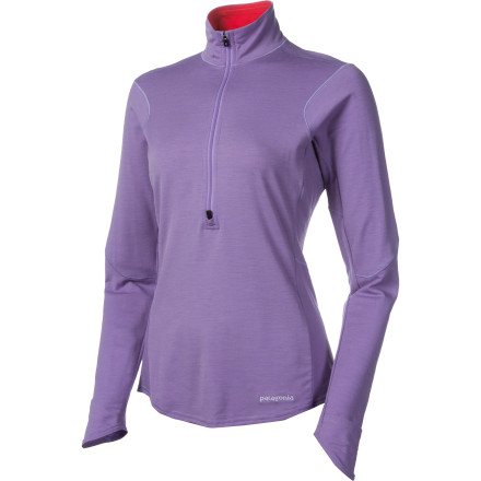 Layer up this winter with the Patagonia Women's Thermal Flyer Shirt. Its flattering slim fit means the Flyer slides easily under softshells and puffies, and the soft merino wool keeps odor down so you won't be afraid to rock this top solo for post-activity refreshments at the bar. - $83.30