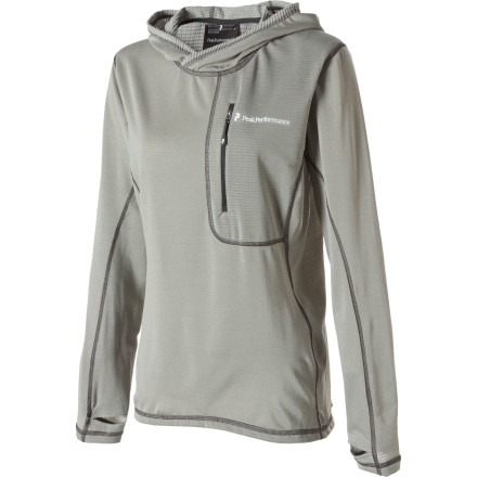 Camp and Hike Throw the Peak Performance Women's Alter Hooded Top on when you're relaxing at camp after an enjoyable snowshoe trek, or just wear it for comfort when snoozing on a weekend morning. - $74.97
