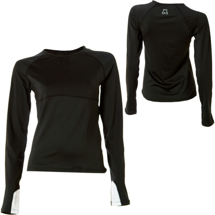 Fitness Say goodbye to yucky back and stomach sweat stains and (even worse) peek-a-boo love handles when you sport the Skirt Sports Women's Runners Dream Top. Skirt Sports specifically gave this feminine long-sleeve shirt a longer sleeve and body length so you're not advertising any unwanted skin when you're weight lifting, dancing, or practicing yoga. All-mesh but non-see-through tummy and back panels give you plenty of room to breathe so you stay dry, and its built-in thumbholes are ideal when working out in cooler temperatures. - $64.95