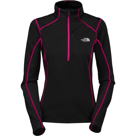 Stay warm and dry with the North Face Winter Sub Zero Aries Women's Long Sleeve Top. The windproof shell at your core blocks warmth-draining gusts, and merino/poly blend panels and sleeves wick moisture to keep you dry where you perspire most. - $65.97