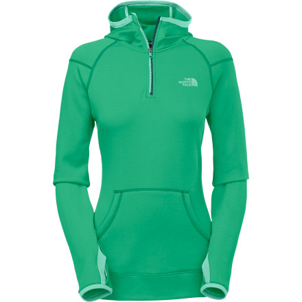 The North Face Women's Stretch Ninja Hooded Long-Sleeve Shirt provides plenty of unrestricted stretch while you spider-monkey up and over boulders and breeze up 5.11 climbs. - $56.21