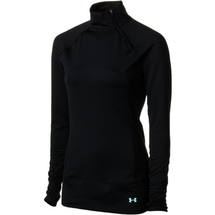 Fitness After checking the avy report, you pull on the Under Armour Women's Evo Coldgear Long-Sleeve Shirt and the rest of your snow gear. This cozy, fitted baselayer ensures comfort while you session pow or carve up groomers. - $41.97