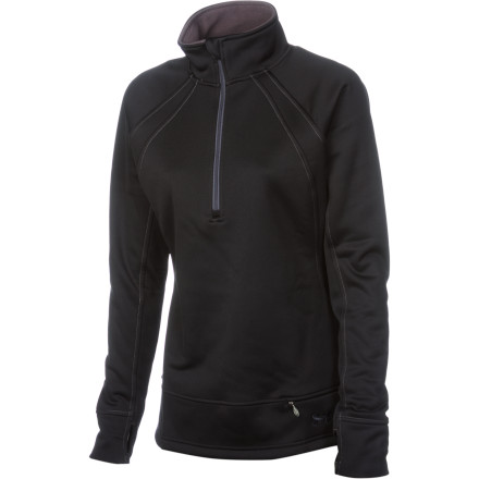 Fitness There's nothing like sliding on the Under Armour Women's Bonded 1/4-Zip Long-Sleeve Top and heading downstairs to an already-made breakfast of waffles, scrambled eggs, and bacon before you start your day on the slopes. - $48.97