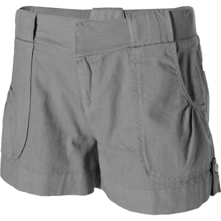 Summer time means longer days and shorter shorts, and the Carve Design Lanikai Shorts give you a lot of style in a little package. The low rise contrasts with a dressed-up waist and an adjustable hem. Rouched pockets give the shorts a feminine touch. Now, all you have to do to finish your summer look is shave your legs. - $55.95