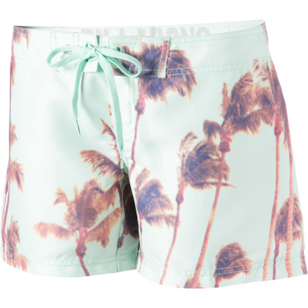 Surf Slip into your Billabong Women's Venice 5in Board Short before you make your predawn break for the beach. - $23.98