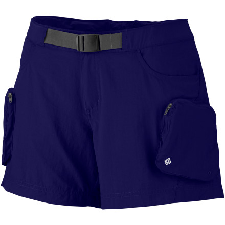 Camp and Hike Columbia designed the Women's Cross On Over Cargo Short for those who like to take a short hike in the morning before they run a bunch of errand in the afternoon. This versatile short made with stretchy, moisture-wicking fabric keeps you comfortable and looking cool, so you can chill out all day in the Cross Over's no matter what. An exterior adjustable waistband gives you a just-right fit, and its lowered zippered cargo pockets securely holds your cell, cash, or credit cards. - $27.96