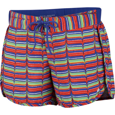 Surf You could head for the beach, lake, or river with a traditional board short or you could show off your own fashion boldness with the printed, short-cut Columbia Women's Groovy Creek Board Short. - $19.98