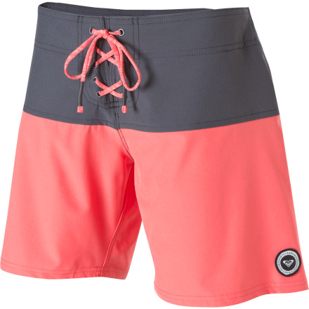 Surf The Roxy Rip Current Board Short knows that cute style shouldn't get in the way of surf-worthy functionality. With Supersuede material, a silicone-backed waistband, and a longer outseam for coverage, the rip current is ready to get rad. - $26.00