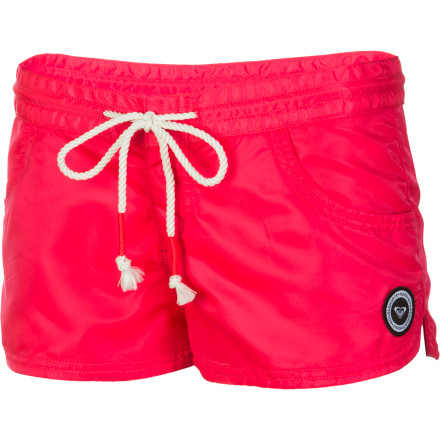 Surf Wear the Roxy Surf Essentials Steady Waves Shorts as you paddle out to the breakers, as you stroll down the boardwalk, and as you rocket down the water-slides. - $21.00