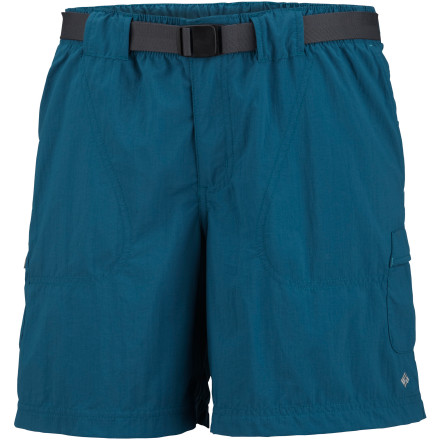 Climbing The sand between you toes feels divine as you climb out of your canoe and pull your river map from the cargo pocket on your Columbia Women's Sandy River Water Cargo Short. The short's relaxed fit leaves you plenty of room to frolic along the beach, and the quick-dry fabric won't stay wet for long if you decide to take a swim. A UPF rating of 30 helps protect your skin from the sun's rays, and a built-in stash pocket secures your car key so you can get back home when your summer river excursion is done. - $27.95