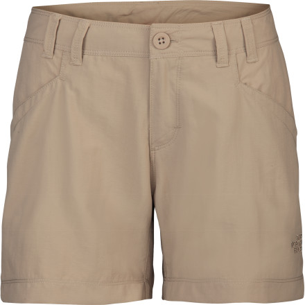 Climbing As the sun heats your campsite past your comfort level, you stay cool thanks to The North Face Women's Horizon Becca Short's breathable fabric and five-inch inseam. - $19.98