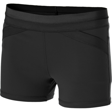 Fitness The prAna Women's Crissy Short reminds you of a fresh spring morning. Made with Chakara performance fabric, the Crissy has superb moisture management, stellar compression and shape retention, and a clean look that never goes out of style. Its quick-drying fabric, fitted cut, and gusseted inseam ensures you stay comfortable when you practice yoga, workout at the gym, or lounge about the house. - $49.95