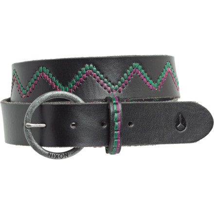 Hmmmm ... your outfit seems to be missing something. The Nixon Women's Navajo Belt would go just right with your skinny jeans, cowboy boots, and tee. Its full-grain leather with heavy-colored stitching detail pulls everything together. - $34.97