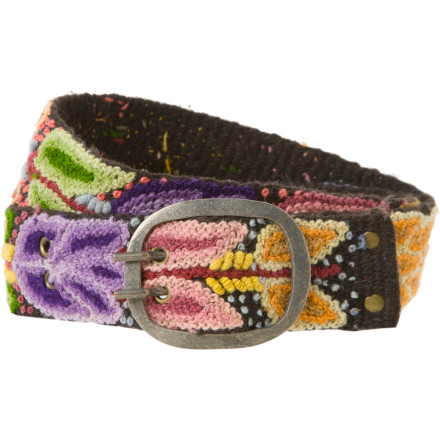 The Fair Trade, Peruvian-made Pistil Women's Andina Belt boasts a gorgeous, hand-embroidered floral design. Sure, it holds your trousers in place or sets off your waistline when you wear a shirtdress ... but it's also a conversation-starter and a piece of art. - $37.17