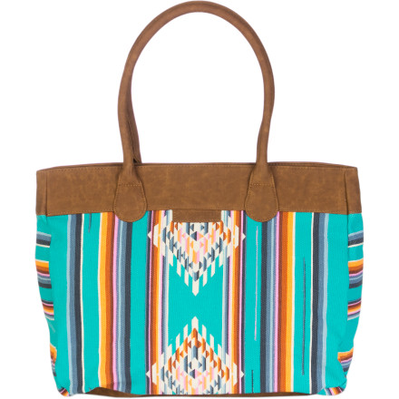 Surf The Billabong Women's Let's Get Lost Together Tote inspires you to take a weekend trip to the mountains or beach for a breath of fresh air and an escape from the rat race. - $29.67