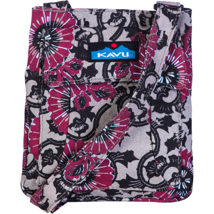Entertainment Five compartments in the Kavu Mini Keeper Purse keep your keys, cherry lip balm, grocery list, cell, and cash organized for a trip to the store. Adjust the strap and sling this small purse over your shoulder for hands-free shopping. The bellowed pockets expand to accommodate any extra items you decide to cram into the Mini Keeper. - $24.95