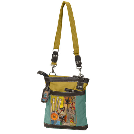 Entertainment Featuring an original print by artist Cathy Nicols, the Sherpani Luna Purse brings original style to your bag collection. Larger than your standard purse, but not quite a tote, this bag carries the necessities without weighing you down, and the internal organization pocket keeps your keys and phone close at hand. - $59.95