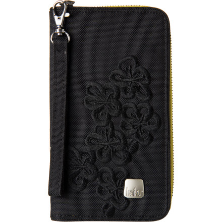 Entertainment The Haiku Women's Zip Wallet throws out bright, exciting style with an earthy feel, and this organized zip-up has plenty of slots for your plastic, cash, coins, and even space for a smartphone or lip balm. - $33.99