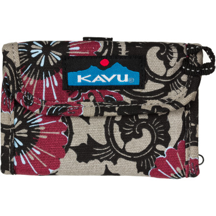 Entertainment The wee little Kavu Wally Wallet actually holds all your cash and cards and still has room for coins and keys. - $17.95