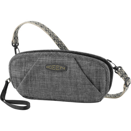 Entertainment KEEN combined the sleek good looks of a clutch with the convenience and versatility of a shoulder wallet to create the Women's Hazel Cross-Hatch Wristlet Wallet. This unique new creation features a clamshell design that opens up to reveal a multitude of pockets to hold your cash, credit cards, phone, lip balm, and keys. Whether you wear it over your shoulder with the removable webbing shoulder strap, use the wristlet strap, or drop it into your purse or backpack for extended outings, the Hazel's linen-look synthetic fabric gives it a sophisticated style that belies its remarkable functionality. - $24.99
