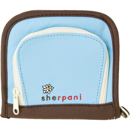 Entertainment The Sherpani Wink Wallet is good at keeping secrets. So if you promise not to tell anyone that the Wink is made with 67% recycled materials or that it comes with an ID sleeve and coin pouch, it promises not to tell anyone that you called your ex last night to Ahang out. - $12.32