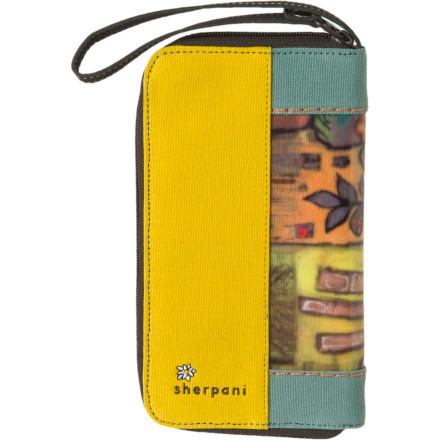 Entertainment Put your valuables in the Sherpani Women's Xovia Wallet before you head to the farmer's market. Multiple card slots keep your plastic organized, and the eco-certified leather trim keeps things sustainably stylish. - $42.95