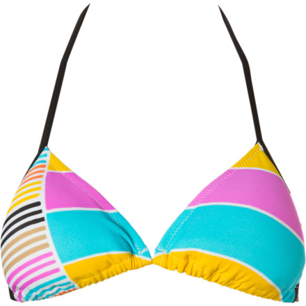 Surf The Raisins Paradise Beach Slide Bra Bikini Top leaves plenty of skin for sunning and slides easily under a rash guard when it's time to hit the surf. - $13.58