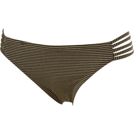 Surf Achieve comfort with the Reef Kennaway Retro Bikini Bottom's full-coverage seat and unforgettable look. The multiple-string band appeals to both athleticism and femininity, and the subtle striped pattern is sure to pair well with various tops. - $17.48