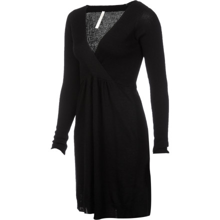 Entertainment Dressaholics rejoice'''the advent of cold weather just means you can pull out the Aventura Wome's Zoe Dress. Crafted from lightweight rib-knit merino wool, the Zoe pairs perfectly with tights and your favorite boots so you can rock your favorite look year 'round. - $63.22