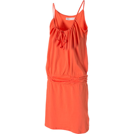 Entertainment When you're at the beach, there isn't any schedule you need to stick with, so be ready for anything with the Carve Designs Women's Shore Dress. This easy-to-wear, organic-cotton dress features a loose fit and drop waist so it's simple to switch from beach cover-up to evening wear. - $67.95
