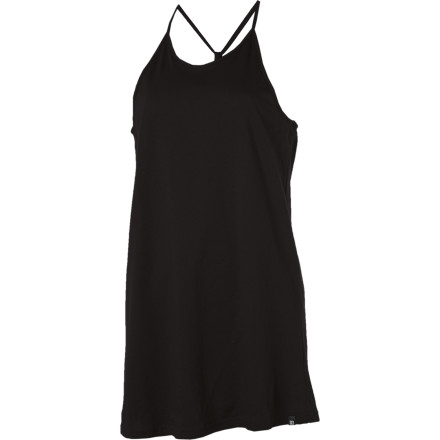 Entertainment A super-sexy strap racerback causes a sensation when you walk down the street in the DC Women's Hile Dress. Whether you're pairing it with some casual flips or working it with some stiletto sandals, this two-layer jersey dress makes head snap around so fast, you should be getting a kickback from the local chiropractor. - $21.00