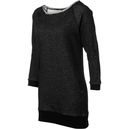 Fitness Just because the weather is getting cooler doesn't mean you have to run and hide in your sweatpants and oversized hoodies. Throw on the DC Marley Women's Dress over some leggings and stay warm while looking good. - $31.50