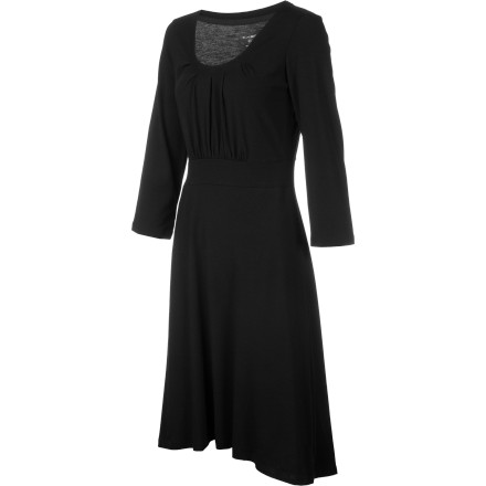 Entertainment It may have been a crazy day at work, but the ExOfficio Women's Go-To Dress is still ready to head out to dinner afterward. The dress's soft DriRelease fabric not only stretches for all-day comfort, but wicks and fights odors so you look and feel fresh. - $48.72