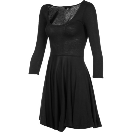 Entertainment The Hurley Women's Cosmos Dress packs enough upscale charm to team up with some sky-high heels and hit the club. Ans thanks to it's clean styling, you can rock it with flats and take it to work. - $23.67