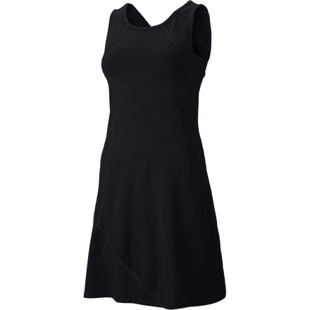 Entertainment You love summer dresses, but you don't love trying to hide your bra straps under a skimpy warm-weather dress. Mountain Hardwear gave the Loess Dress a built-in shelf bra and wide shoulder straps for easy, under-cover support. - $64.95
