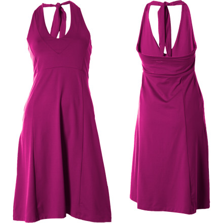 Entertainment You know those weddings where a volleyball game breaks out at the reception, or nights out on the town where you spend four frenzied hours on the dance floor' You need a dress for those occasions that not only looks fabulous but delivers some of the same performance you get from your athletic gear, a dress like the Patagonia Morning Glory Dress. This V-neck halter dress with an empire waist and feminine seaming is crafted from a stretchy, soft jersey knit with a brushed interior that wicks moisture and dries quickly. The Morning Glorys new, shorter hemline, which falls just above the knee, helps make it just right for any occasion\227elegant, rowdy, or a little bit of both. - $37.50