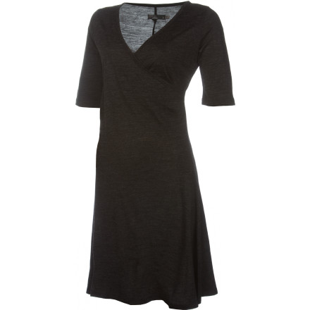 Entertainment When wearing your yoga pants all day wont cut it, slip into the just-as-comfortable prAna Nadia Dress. This knit dress features a flattering crossover neckline and soft fabric so you can be dressed up without getting irritable. Plus, the wool blend is warm and cozy so you won't notice the chill when you're out on a cool evening. - $44.97
